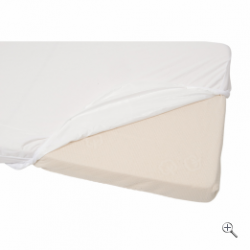 Наматрасник водонепроницаемый Waterproof fitted sheet 60x120 cm White 694163 Candide